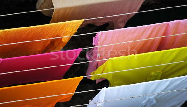 Lavanderia imagem colorido roupa tecido limpar Foto stock © akarelias