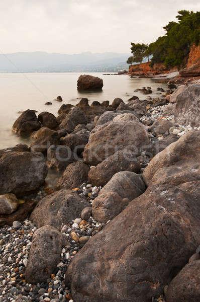 Deniz manzarası doğa manzara deniz seyahat barış Stok fotoğraf © akarelias