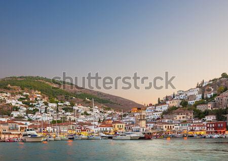 Ilha Grécia cedo noite ver principal Foto stock © akarelias