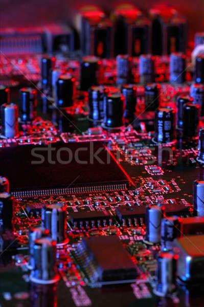 Elektronik görüntü bilgisayar ses tahta iç Stok fotoğraf © akarelias