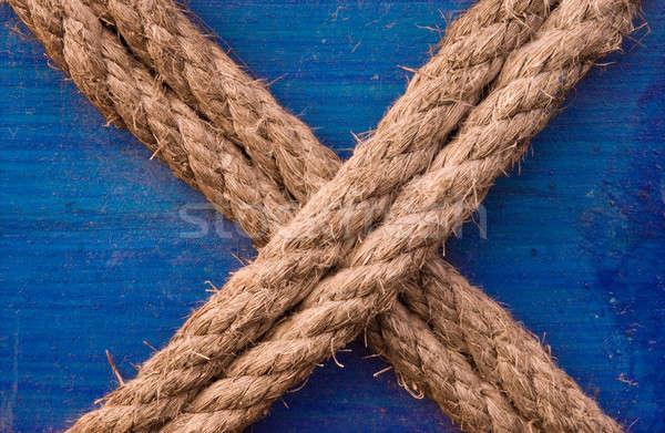 X shaped rope Stock photo © akarelias