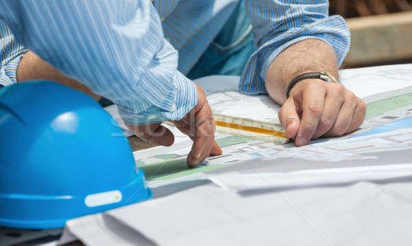 Budowy plany ręce szczegóły Zdjęcia stock © akarelias