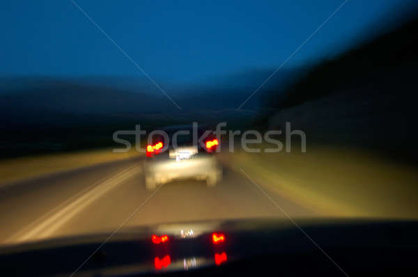 Stock photo: Drinking and driving