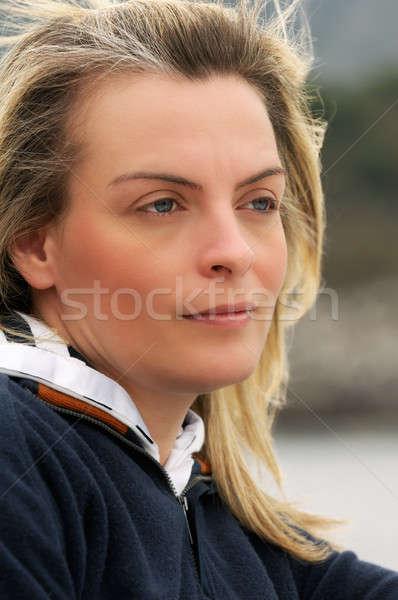Belo mulher jovem retrato bela mulher Foto stock © akarelias