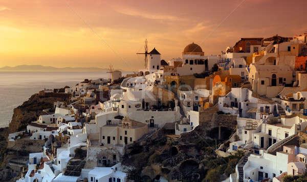 Köy santorini adası Yunanistan güzel Yunan ada Stok fotoğraf © akarelias