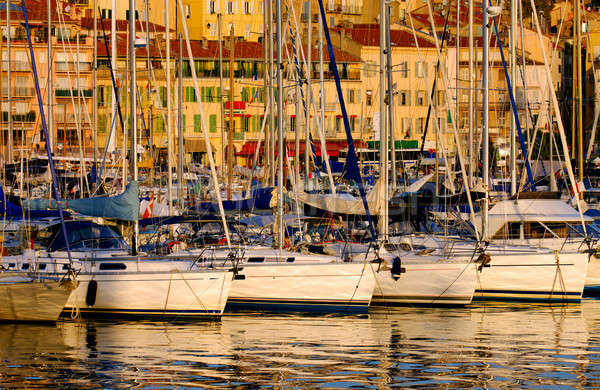 Vieux port ( old port) in Cannes, France Stock photo © akarelias