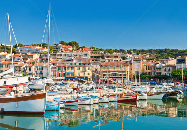 The seaside town of Cassis in the French Riviera Stock photo © akarelias