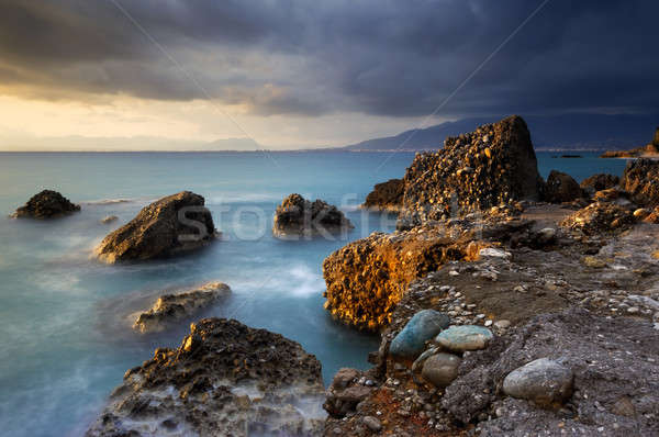Seascape in Greece Stock photo © akarelias