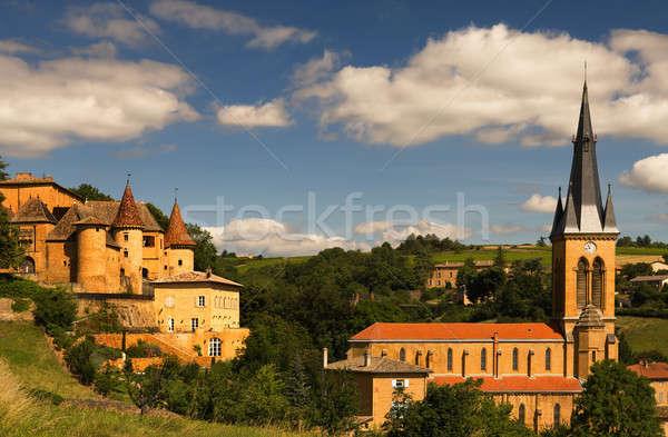 Cenário imagem velho igreja aldeia famoso Foto stock © akarelias