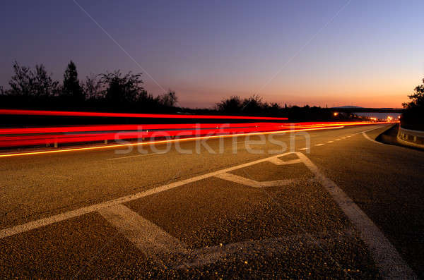 Highway at dusk Stock photo © akarelias