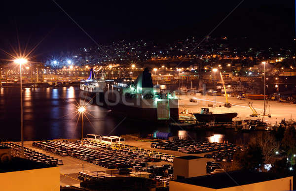 Porta imagem Grécia cidade urbano industrial Foto stock © akarelias