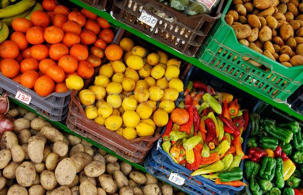 Fruto vegetal suporte imagem comida Foto stock © akarelias