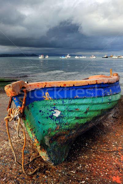 Old colorful fishing boat Stock photo © akarelias