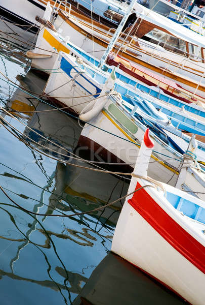 Moored fishing boats Stock photo © akarelias