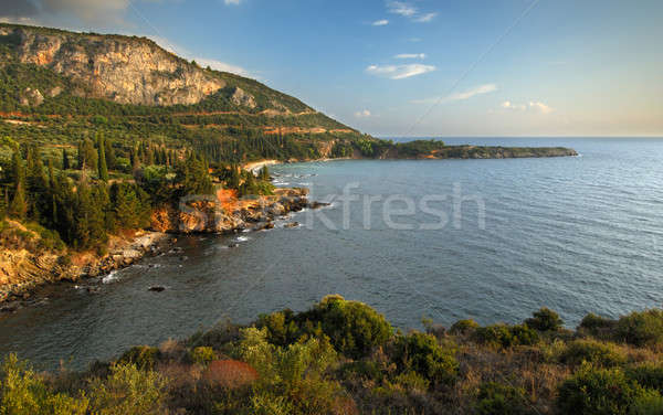 морской пейзаж Греция изображение живописный полуостров южный Сток-фото © akarelias