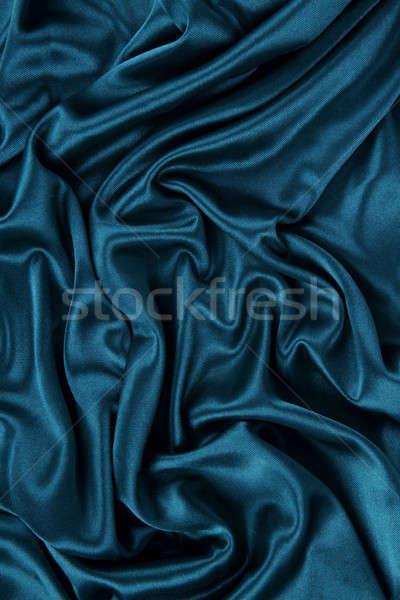 Escuro azul cetim seda veludo pano Foto stock © Akhilesh