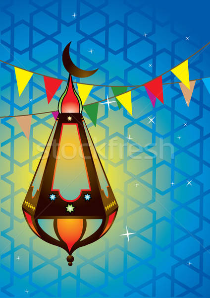 Iszlám antik lámpás lámpa fény művészet Stock fotó © Akhilesh