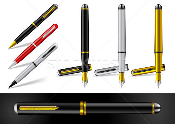 Fountain Pen and Ball Point Pen - Vector Illustration Stock photo © Akhilesh