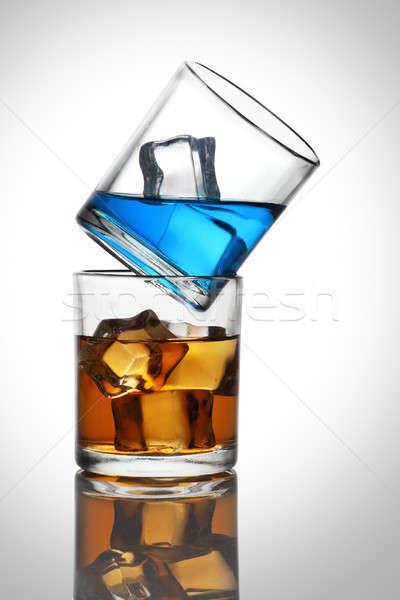 два очки красочный напитки белый Сток-фото © Akhilesh