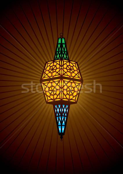 islamic lamp vector illustration Stock photo © Akhilesh