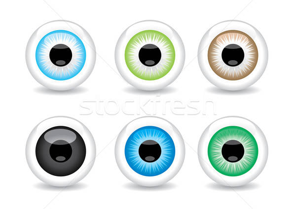 Set of 6 different eye balls Stock photo © Akhilesh