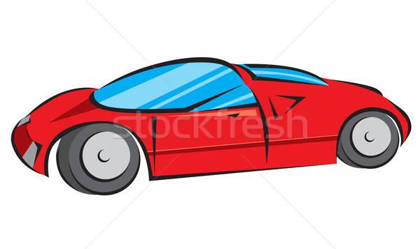 Red Modern Car Vector Illustration Stock photo © Akhilesh