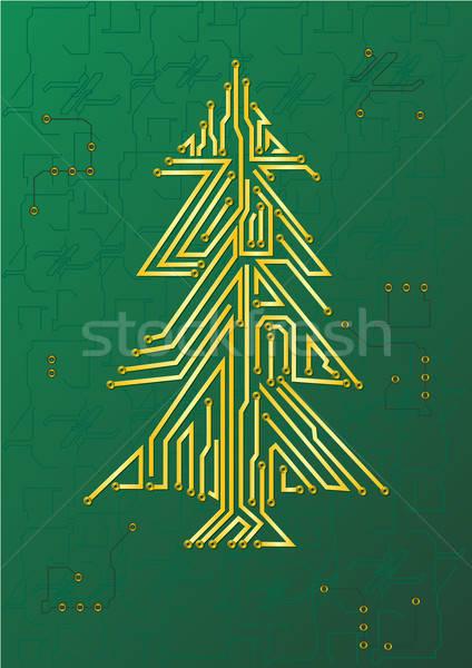 Christmas Tree Circuit - IT celebration concept Stock photo © Akhilesh
