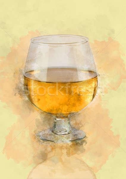 白ワイン ガラス ぼやけた ライト ぼけ味 ストックフォト © Akhilesh