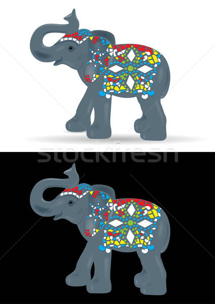 Ornamental Elephant Vector Illustration Stock photo © Akhilesh