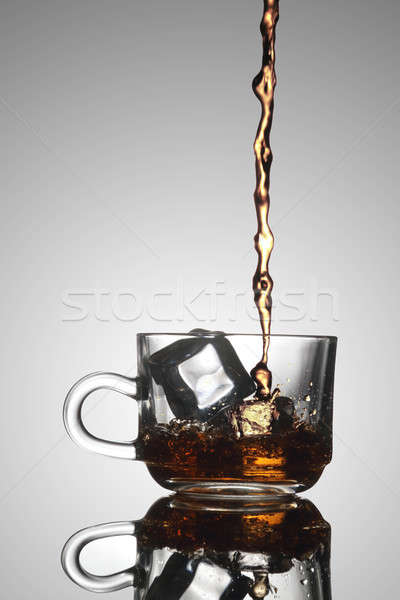 Ice Tea Poured into a Glass Tea Cup Stock photo © Akhilesh
