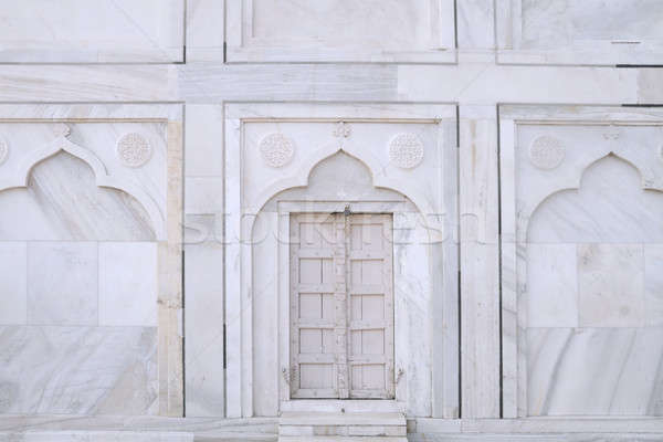 White Closed Door in Taj Mahal, Agra, Uttar Pradesh, India Stock photo © Akhilesh