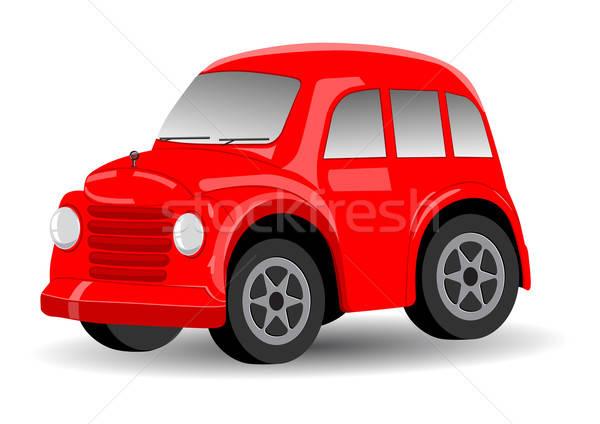 Piros retro régi autó rajz autó klasszikus Stock fotó © Akhilesh