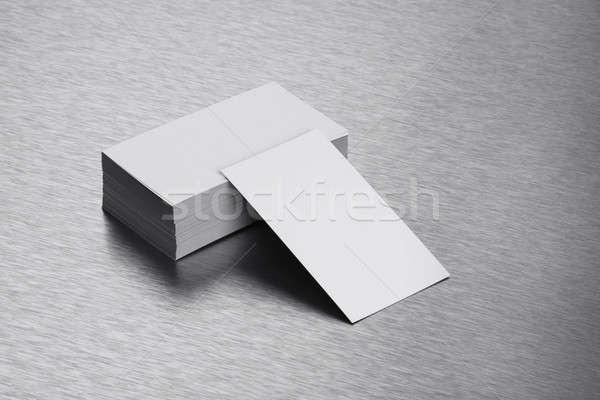 名刺 鋼 ビジネス デザイン 背景 ストックフォト © Akhilesh