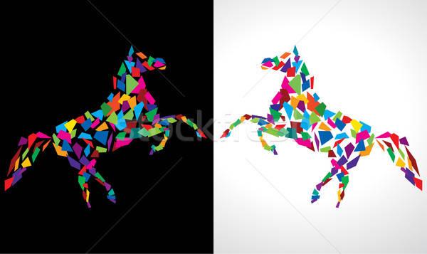 Absztrakt ló vektor rajz terv művészet Stock fotó © Akhilesh