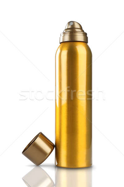 Gold Deodorant Perfume Can or Bottle with reflection Stock photo © Akhilesh