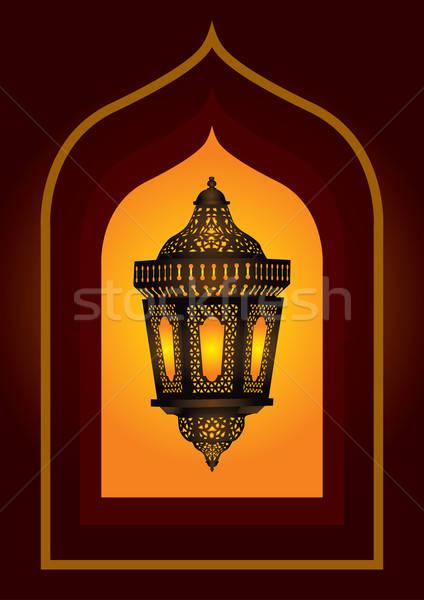 Intricate arabic lantern for eid or ramadan celebration Stock photo © Akhilesh