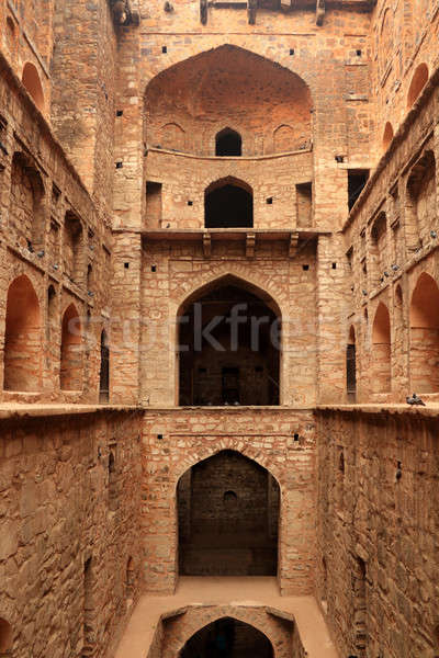 étape bien anciens construction new delhi Inde Photo stock © Akhilesh
