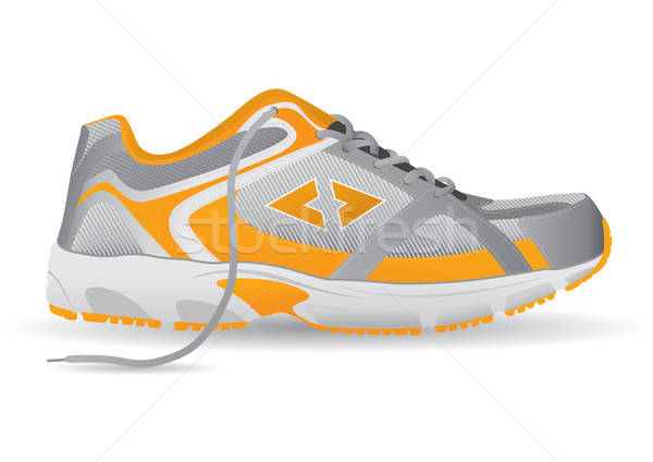 Stylish Sneaker Sports Shoe Vector Illustration Stock photo © Akhilesh