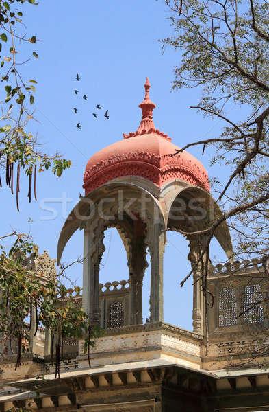 Tető történelmi építészet ív építkezés kultúra kilátás Stock fotó © Akhilesh