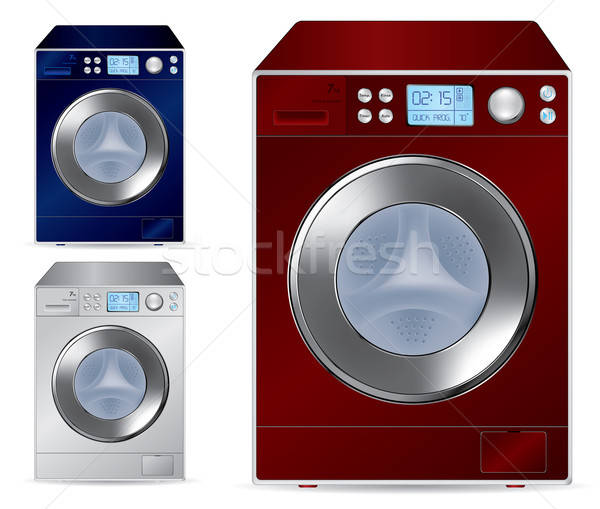 Fully automatic front loading washing machine - vector illustrat Stock photo © Akhilesh