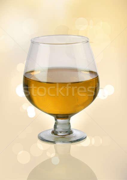 Witte wijn glas wazig lichten bokeh Stockfoto © Akhilesh