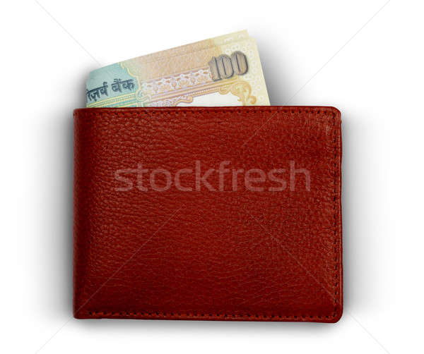 Indian 100 Rupee Currency Notes in a Wallet Stock photo © Akhilesh