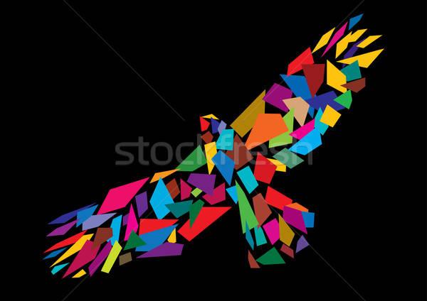 Colorful abstract bird flying Stock photo © Akhilesh