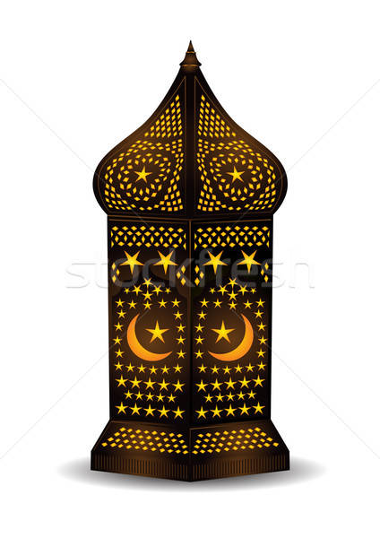 Intricate arabic lantern for eid or ramadan celebration Stock photo © Akhilesh