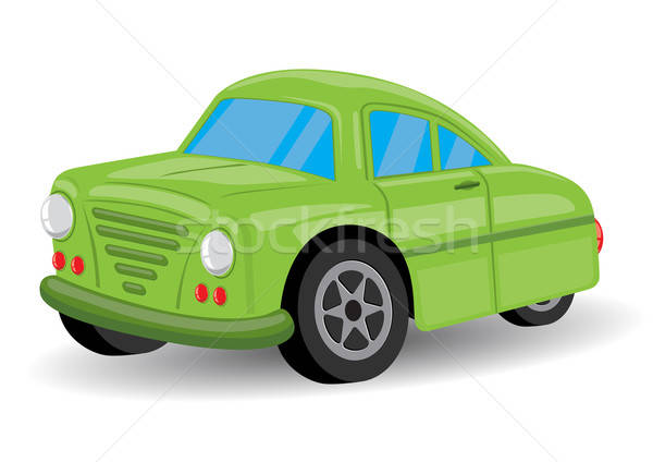 Green Retro / Vintage Car Cartoon - Vector Illustration Stock photo © Akhilesh