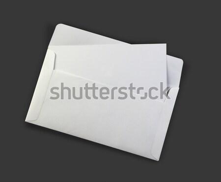 Fehér boríték vázlat meghívó papír posta Stock fotó © Akhilesh