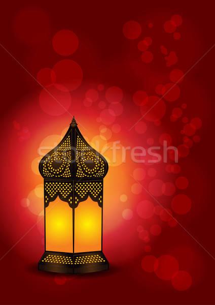 Beautiful Islamic Lamp for Eid / Ramadan Celebrations - Vector Stock photo © Akhilesh