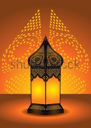 Iszlám lámpás ramadán ünneplés vektor művészet Stock fotó © Akhilesh