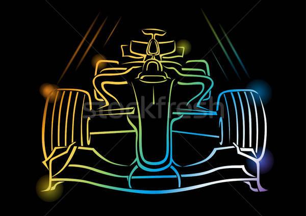 Formül 1 araba eps 10 şeffaflık etkileri Stok fotoğraf © Akhilesh