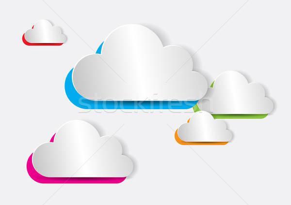 Streszczenie kolorowy papieru internetowych aplikacje Zdjęcia stock © Akhilesh